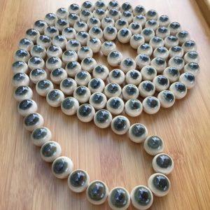 猛犸象牙20mm蓝眼睛108颗手串