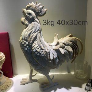 猛犸象牙雕刻雄鸡公鸡摆件