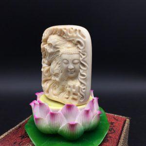 金亮大师佛魔三界猛犸象牙雕刻牌子挂件