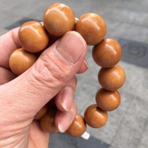 猛犸象牙冰咖猪肝红手串20mm咖啡手串
