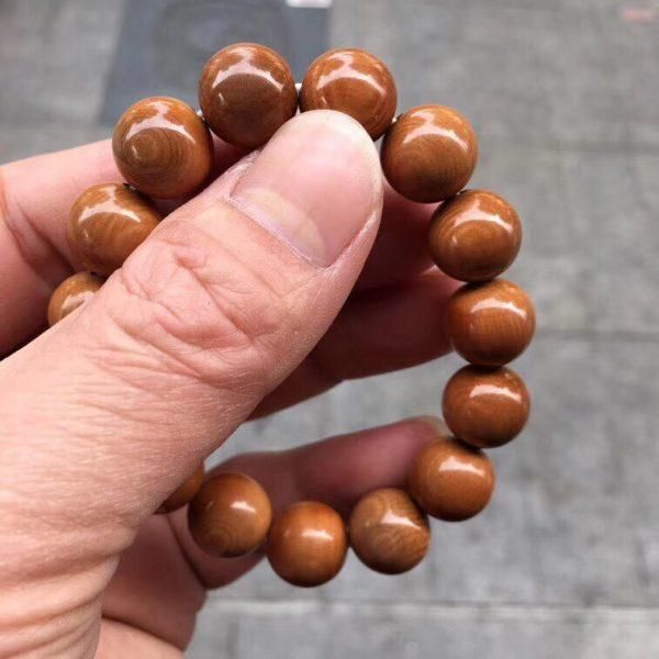 猛犸象牙1.3咖啡猪肝红色泽手串手链