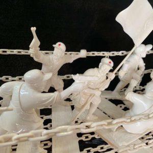 猛犸象牙雕刻勇夺泸定桥战役金亮老师作品