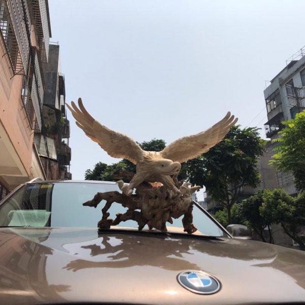 猛犸象牙老鹰雕刻摆件大鹏展翅