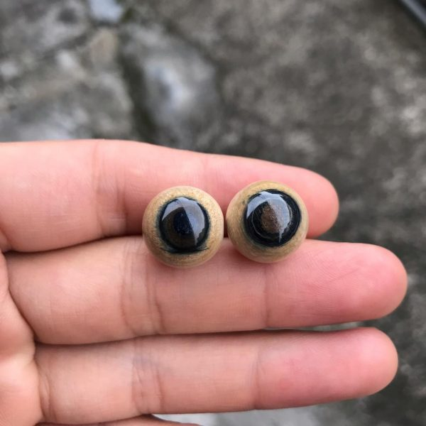 猛犸象牙1.5蓝眼睛对珠蓝皮15mm蓝皮圆珠