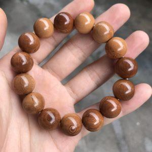 猛犸象牙1.5咖啡手串猪肝红色泽手串