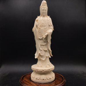 猛犸象牙观音菩萨雕刻摆件